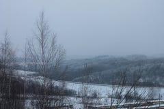 俄国冬天或雾 库存图片