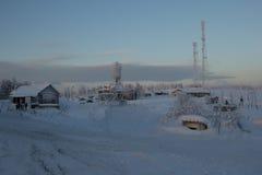 俄国北部,冬天风景 免版税库存图片