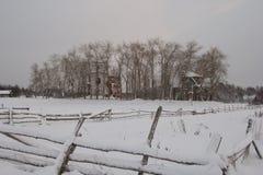 俄国北部,古老教会废墟 免版税库存照片