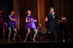 俄国和苏联音乐,人群喜爱,闪耀歌手,歌手爱德华Hil (先生星  Trololo) 免版税库存图片