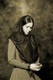 俄国商人妇女的画象 免版税图库摄影