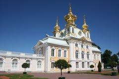 俄国国君的一个前住所, Peterhof 免版税库存图片