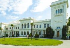 俄国国王颐和园在雅尔塔 免版税库存图片