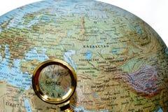 俄国地球的伊拉克 免版税库存照片