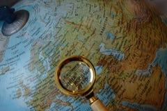 俄国地球的巴尔干国家 免版税图库摄影