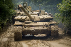 俄国坦克T-90 库存照片