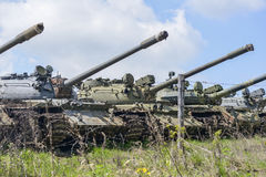 俄国坦克T-90 库存图片