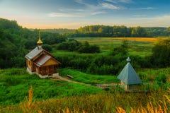 俄国基督徒沐浴的小屋 免版税库存照片