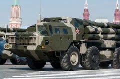 俄国多管火箭炮BM 30 Smerch 免版税库存照片