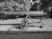 俄国大炮在黑白的伊利 库存照片