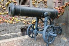 俄国大炮由英国陆军夺取了在克里米亚 免版税库存图片