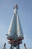 俄国太空飞船沃斯托克在主要国家展览会在莫斯科 库存图片