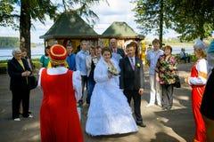俄国婚礼传统 库存照片