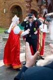 俄国婚礼传统 图库摄影