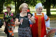 俄国婚礼传统 库存图片