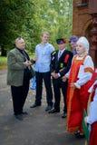 俄国婚礼传统 免版税图库摄影