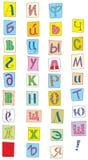 俄国字体 免版税库存照片