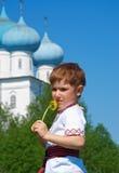 俄国小男孩 免版税图库摄影