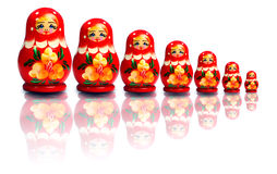 俄国嵌套玩偶 图库摄影