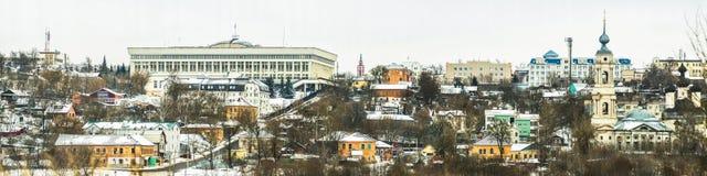 俄国市的全景高分辨率的卡卢加州 免版税库存照片