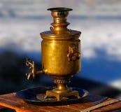 俄国式茶炊 免版税库存图片