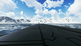 俄国弹道导弹潜水艇Borei 特写镜头 向量例证