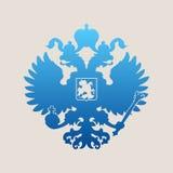 俄国徽章二重带头的老鹰象征 库存图片