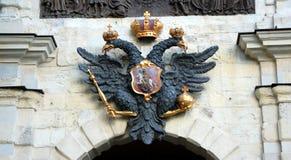 俄国徽章(二重带头的老鹰) 免版税库存图片