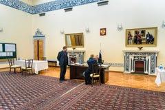 俄国总统选举在俄罗斯的使馆2018年3月第18 德黑兰 伊朗 免版税库存图片