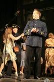 俄国战士跳舞 舞蹈家在胜利天 库存图片