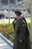 俄国战士 免版税图库摄影