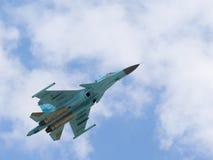俄国战斗轰炸机苏-34 免版税库存照片