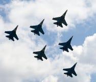 俄国战机苏霍伊Su27侧面部队 库存照片