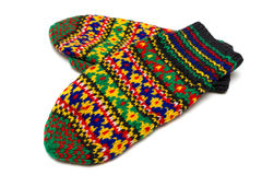 俄国手工制造手套 免版税库存照片