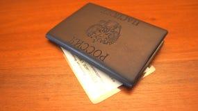 俄国护照 免版税库存照片