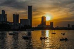 俄国摩天大楼yekaterinburg 库存图片