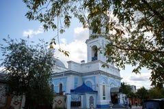 俄国教会,俄罗斯的金黄圆环 免版税库存图片