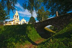 俄国教会XIV世纪 Gorodnya 库存图片