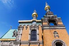 俄国教堂在达姆施塔特,德国 库存照片