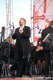 俄国普遍的演员,歌剧歌手鲍里斯pinkhasovich,男中音, Mikhailovsky剧院的星,俄罗斯 在露天舞台 库存照片
