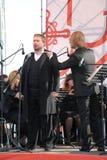 俄国普遍的演员,歌剧歌手鲍里斯pinkhasovich,男中音, Mikhailovsky剧院的星,俄罗斯 在露天舞台 库存图片