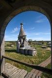 俄国木教会 库存照片
