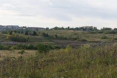 俄国村庄, Staraya拉多加,俄罗斯农村风景  免版税库存照片