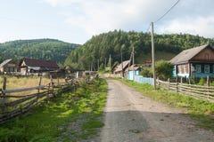 俄国村庄 免版税库存照片