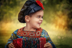 俄国样式男孩 图库摄影