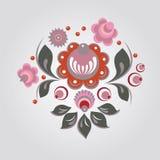 俄国样式花卉图案 免版税库存照片