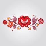 俄国样式花卉要素 免版税库存照片