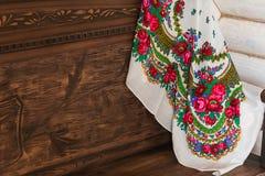 俄国样式围巾 免版税库存照片
