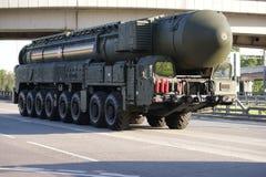 俄国核导弹白杨M 免版税库存照片