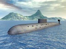 俄国核潜艇 免版税库存照片